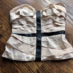 Gorgeous silky Bebe strapless top ♔ EUC